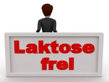 3d man leaning on lakstose frel board concept Stock Image