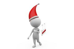 3d man leaving xmas concept Royalty Free Stock Images
