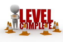 3d Man Level Complete Concept Stock Photo