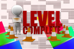 3d Man Level Complete Illustration Royalty Free Stock Photos
