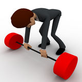 3d man lifting heavy weight concept Royalty Free Stock Photo