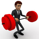 3d man lifting weight concept Stock Images