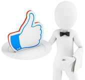 3d man with  like symbol Royalty Free Stock Images