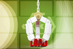 3d man load upping illustration Royalty Free Stock Images