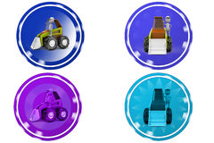 3d man loader icon Stock Images