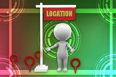 3d man location illustration Stock Photo