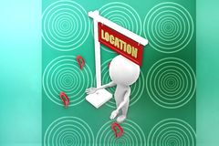 3d man location illustration Stock Image