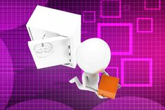 3d man locker cargo illustration Stock Images