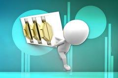 3d man locker illustration Royalty Free Stock Image