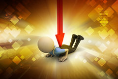 3d man with loss Royalty Free Stock Photos