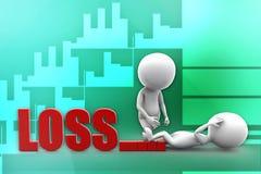 3d man loss illustration Royalty Free Stock Photography