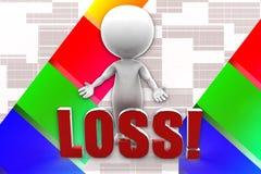 3d Man Loss Illustration Stock Photos
