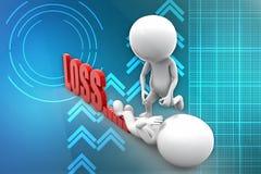 3d man loss illustration Stock Images