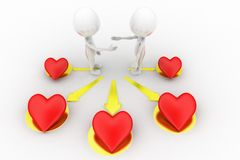 3d man love concept Royalty Free Stock Images