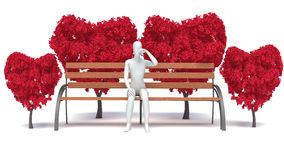 3d man in love Royalty Free Stock Image