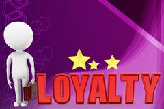 3d man loyalty illustration Royalty Free Stock Images