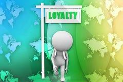 3d man loyalty illustration Royalty Free Stock Photo