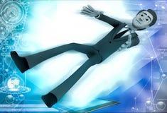 3d man lying on floor illustration Stock Image