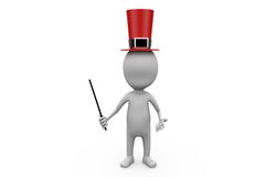 3d man magician concept Royalty Free Stock Photography