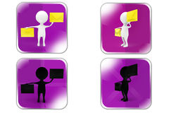 3d Man mails concept icon Stock Photo
