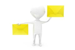 3d man mails concept Royalty Free Stock Images