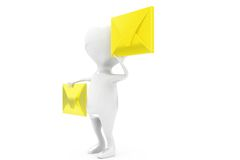 3d man mails concept Stock Photography