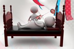 3d man make injection illustration Stock Image