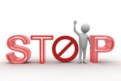 3d man making stop illustration Stock Photo