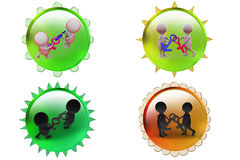 3d man male female icon Royalty Free Stock Photo