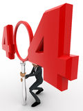 3d man man with 404 error number concept Royalty Free Stock Photo