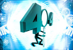 3d man man with 404 error number illustration Royalty Free Stock Images
