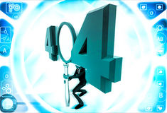 3d man man with 404 error number illustration Royalty Free Stock Image