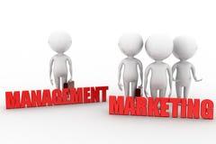 3d man management marketing Stock Photo