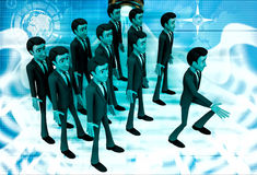 3d man marching illustration Stock Photography