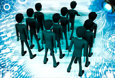 3d man marching illustration Royalty Free Stock Photography
