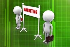 3d  man marketing illustration Royalty Free Stock Photo