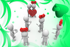 3d man marriage  illustration Stock Image