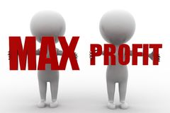 3d Man Max Profit Stock Photo