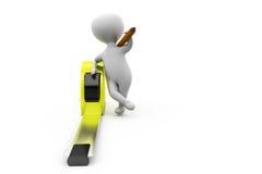 3d man measure tape concept Stock Photography