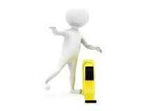 3d man measure tape concept Stock Images