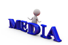 3d man media concept Stock Photo