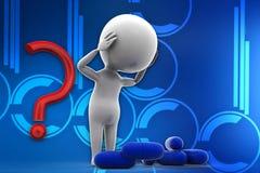 3d man medicine illustration Royalty Free Stock Photo