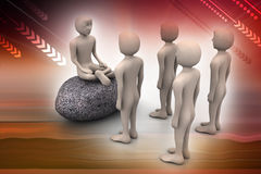 3d man in meditation Royalty Free Stock Images
