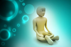 3d man in meditation Stock Photography