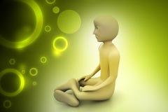 3d man in meditation Stock Photo