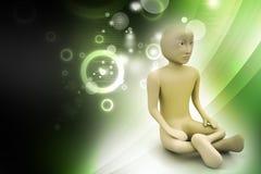 3d man in meditation Stock Image