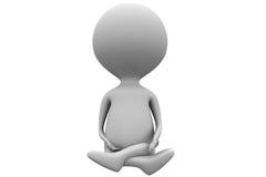3d man meditation concept Royalty Free Stock Image