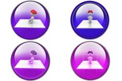 3d man meditation icon Stock Photo