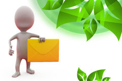 3d man message icon illustration Stock Photos