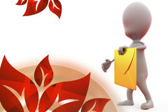 3d man message icon illustration Stock Photo